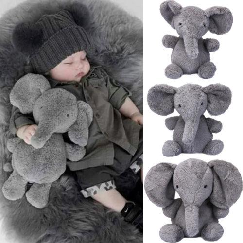 Newest Baby Kids Gift Long Nose Elephant Doll Pillow Soft Plush Cotton Stuff Toys Lumbar XMAS