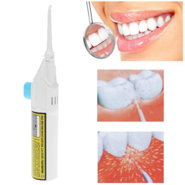 1pc Portable Plastic Oral Cleaning Tooth Dental Hygiene Floss Dental Water Flosser Cleaner Mouth Denture Cleaner Oral Care Tool