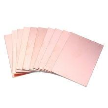 Carte PCB de cuivre FR4 simple, panneau de fibre de verre, de 7x10 cm, 10 pièces