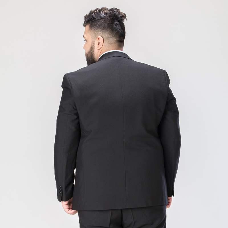 Мужской костюм из 3 предметов Свадебный костюм с брюками жениха размера плюс 5XL 6XL 7XL 8XL 9XL Terno черный синий формальный деловой комплект одежды - 3