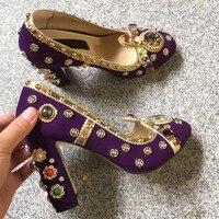 Роскошные брендовые дизайнерские модные женские туфли лодочки ручной работы; туфли лодочки из натуральной кожи с кристаллами и стразами; т