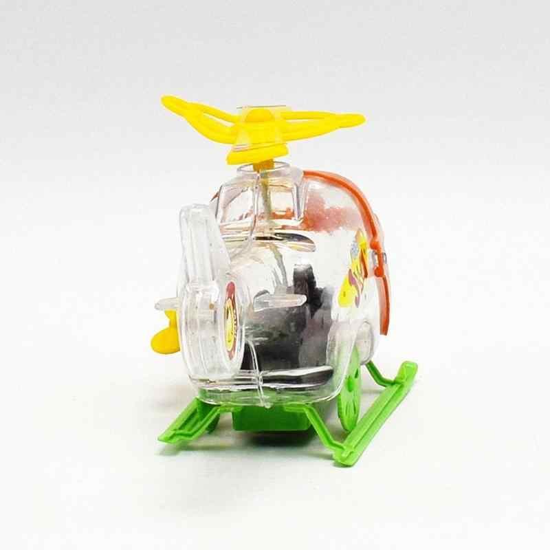 Hot Salto Running Clockwork Transparante Vliegtuigen Wind Up Speelgoed Nieuwe Baby Grappige Vliegtuig Speelgoed Milieu Materialen Kerst Gi
