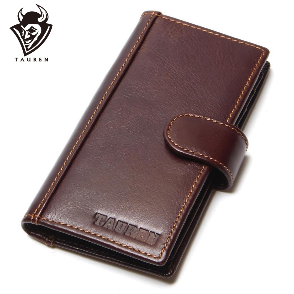 브랜드 RFID 차단 신용 카드 소지자 남성 소 가죽 - 지갑