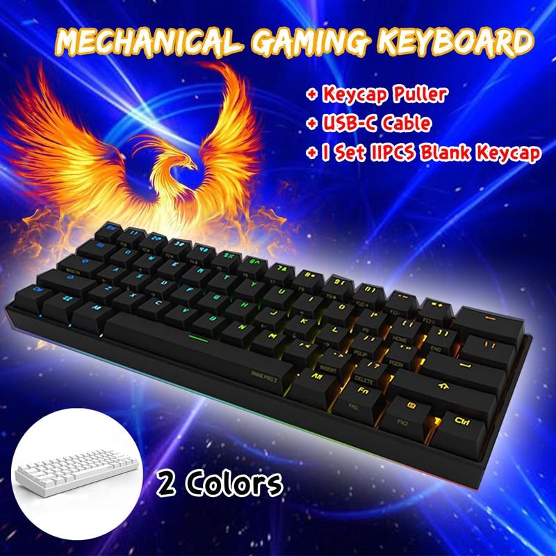 60% NKRO Bluetooth 4.0 Type-C Mini Keyboard Kailh BOX Switch Obins Anne Pro 2 RGB Mechanical Gaming Keyboard for Laptop PC
