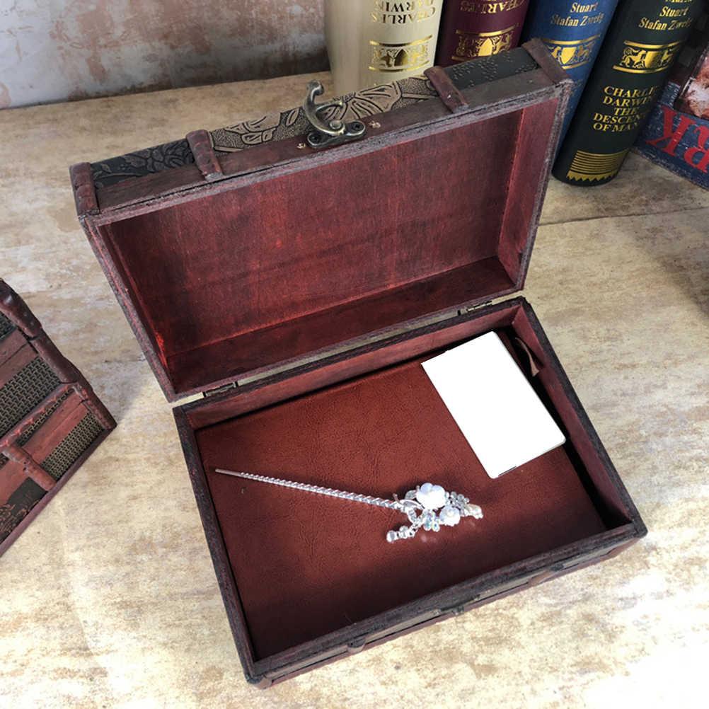 1 шт. деревянный ящик для хранения, настольный винтажный органайзер для ювелирных изделий, ящик для посуды, ящик для хранения игрушек, для стола, комоды, шкафа