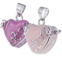 Vintage esmalte amor corazón relicario recuerdo urna cenizas titular rosa/Rosa rojo Mini cremación caja