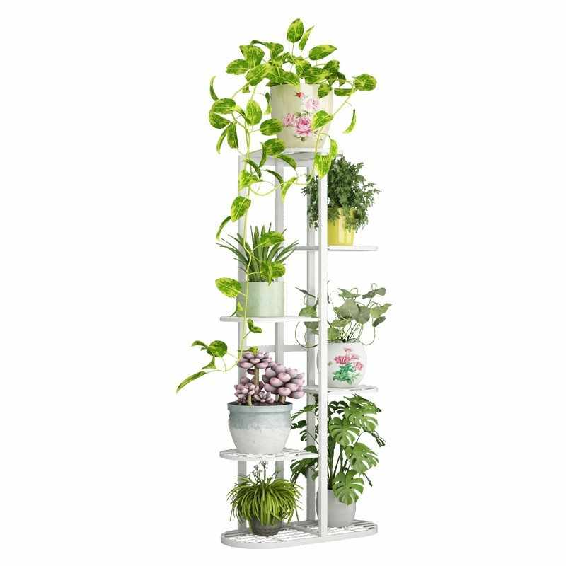 Outdoor Decor Decorer Varanda Balkon Salincagi Metal Shelf Terrasse Decoration Balcony Plant Stand Balcon Flower Iron Rack