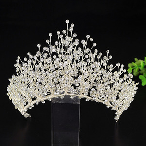 Image 3 - Big Luxury Hair Crystal Crown Rhinestone Headband Tiara Wedding Hair Accessories Bridal Headpiece Handmade Jewelry Girls Diadema