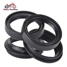4pcs 43x54x11 Motorcycle Parts Nitrile Rubber Front Shock Absorber fork Oil Seal and 43x54 Dust Cover motorcycle front shock absorber construction js125 6b