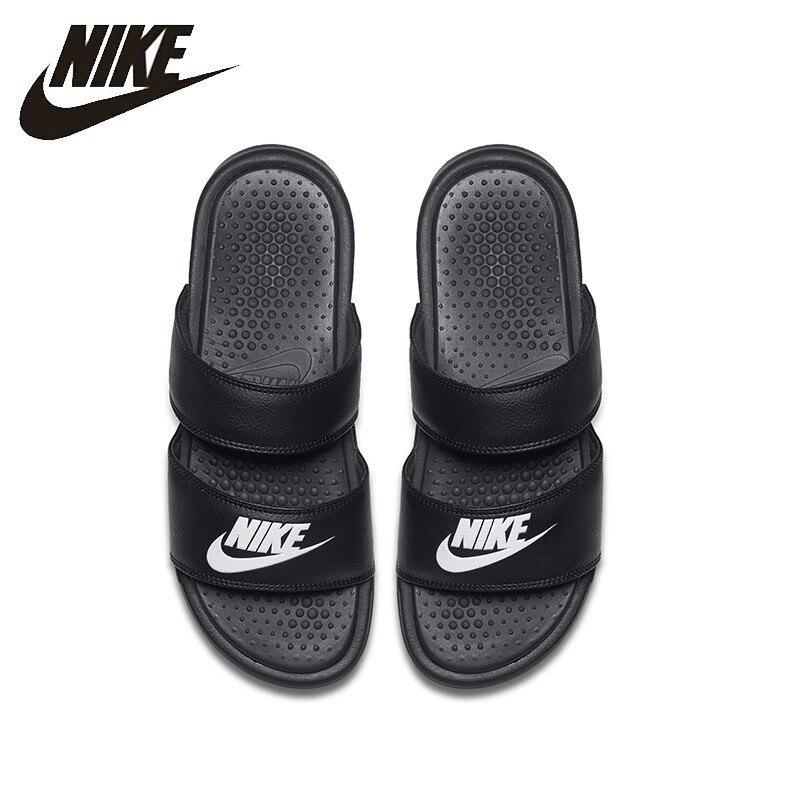 4b38b13d NIKE BENASSI Duo ультра Женская прогулочная обувь модные воздухопроницаемые  тапочки 819717