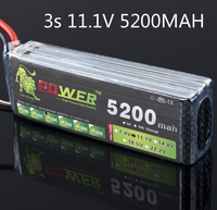 Lion Power Battery 11.1V 5200MAH 30C to MAX 35C AKKU For Halicopter Boat 11.1v LiPo battery free shipping 2019 3s battery 155mm