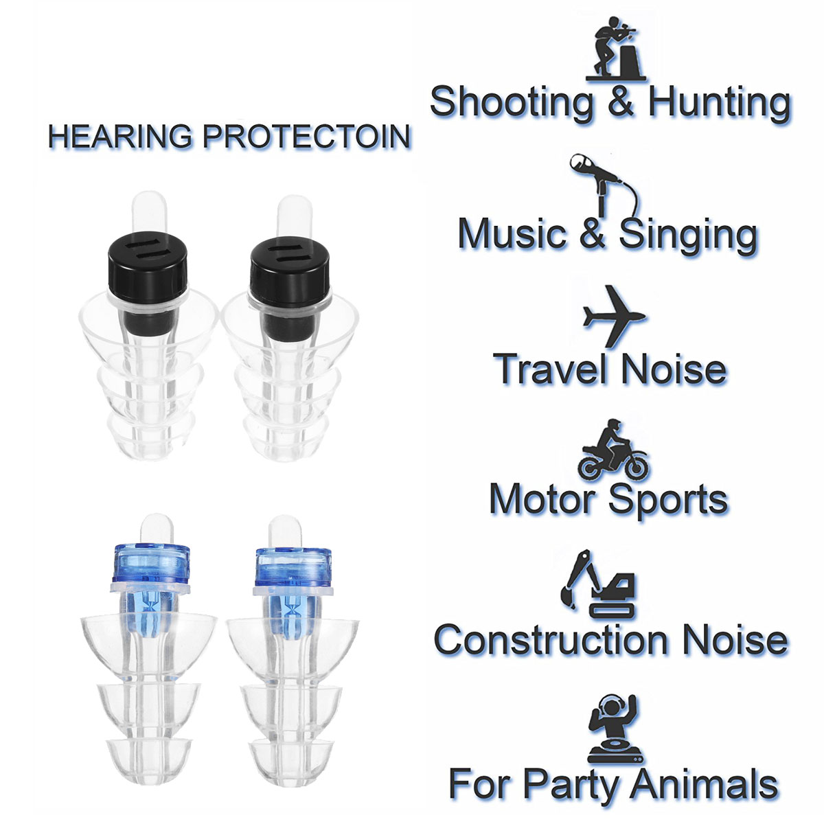 New Fashion Anti Noise Ear Plugs Sleep Noise Reduction Cancelling Musician Hearing Protection Earplugs For Sleep Concert Bar Drummer Health Workplace Safety Supplies