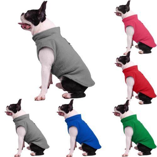 Dog Pet Puppy T-Shirt Jacket Fleece Vest Clothes Coat Apparel Costumes Warmer