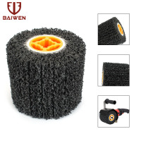 5 Black Poly Drawing Polishing Burnishing Wheel For Derusting Deburring Cleaning Abrasive Tool