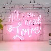 All You Need Is Love неоновая вывеска светодио дный визуальные иллюстрации бар клуб Настенный светильник лампа Святого Валентина вечерние Свадебны