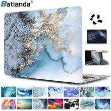 Ensemble de 4 en 1 coques marbre pour Apple MacBook Pro Air, pour touch bar de 13, 15, 16 pouces 2020 A2251 A2159 A1932 A1706 A1990, couvercle rigide avec cadeau offert