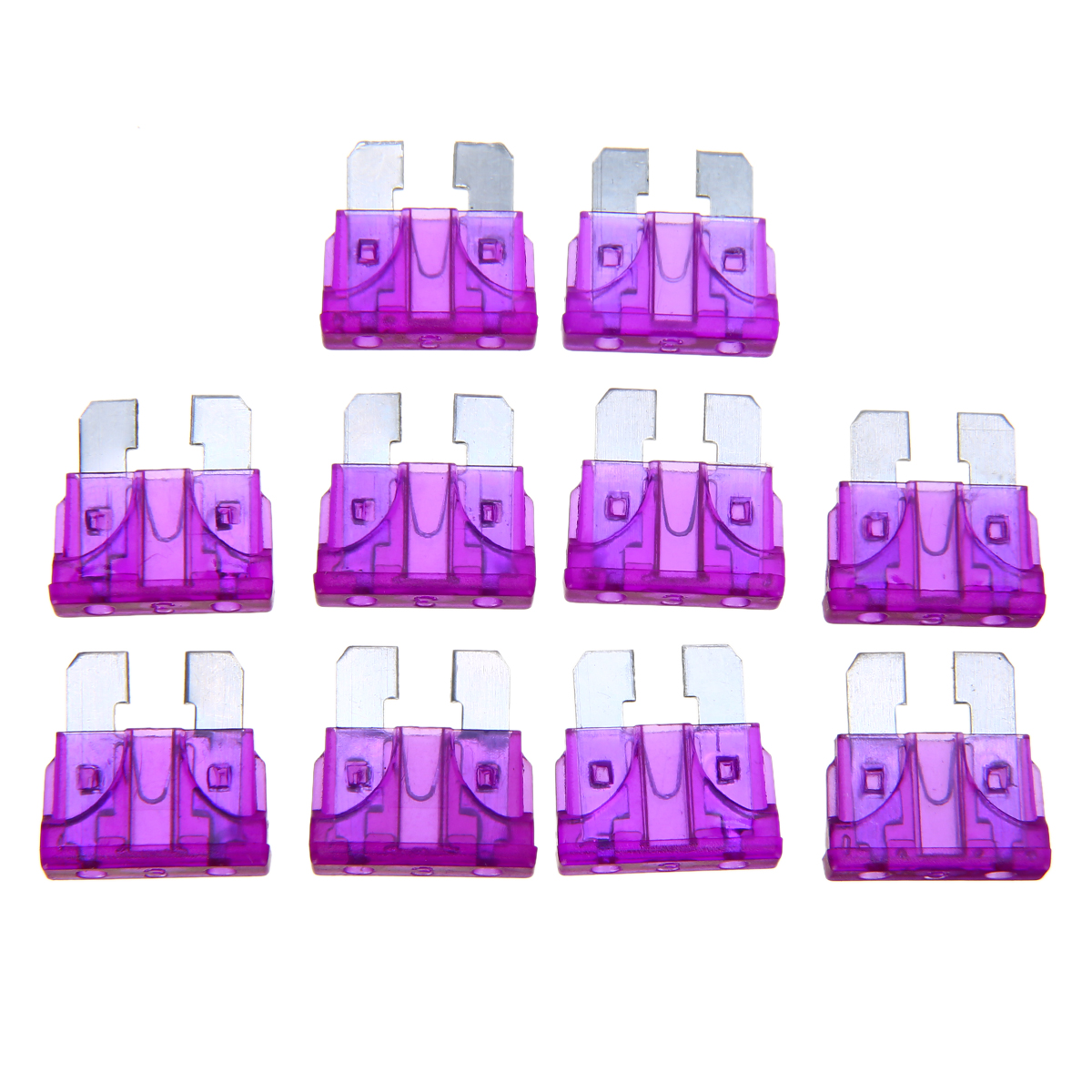 50pcs Auto Middle Fuse Holder 10A fuse for Car Boat Truck ATC//ATO Blade new