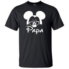 Tshirt Men T Shirt Mickey Plus Size Harajuku Streetwear Funny Shirts Gift for Dad PAPA Kawaii Graphic T-shirt XS-3XL Tee
