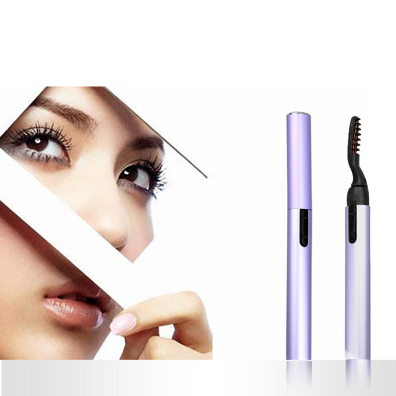 Drop Ship Electric Heated Eye Lashes Curler Makeup Long Lasting No Harm For Eyelash Curler For Women Cosmetics
