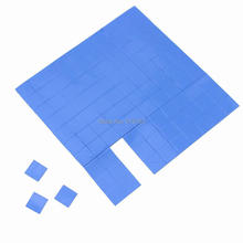 Gdstime 100pcs/lots Blue 10x10x1mm Thermal Pad Conductive Heatsink Cooling for VGA CPU Processor