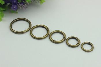 100pcs/lot Luggage Bag Hardware Accessories Diy Metal Bronze Pen Spring Coil Connect Button Open Ring Hardware Accessories Hook