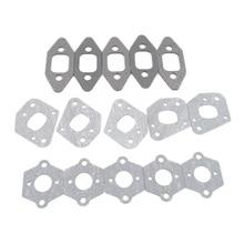 5Sets Chainsaw Manifold Intake Pipe Carburetor Muffler Gasket Kit fit P350 Partner 350 351 352 370 371 390 420 Tool Spare Parts стоимость