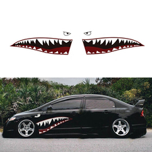 59 Shark Mouth Tooth Teeth Graphics Car Sticker Vinyl Side Exterior Decal 150x40cm