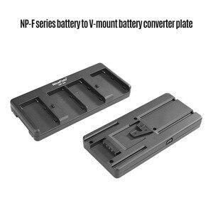 Image 4 - NiceFoto NP 04 NP F Batterij V Mount Batterij Converter Adapter Plaat 4 slot voor Sony NP F970 Batterij voor LED Video Licht