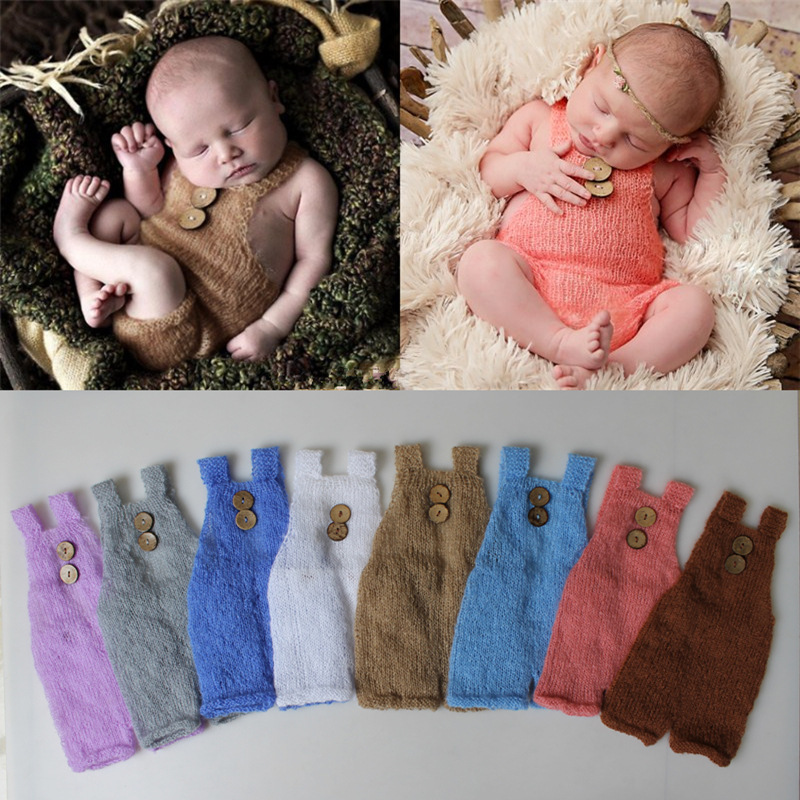 Newborn Photography Props Mohair Suspenders Photography Costume Baby Photo Prop Cute Baby Pants Studio Fotografia Accessories