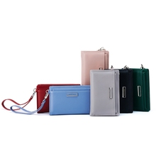 Fashion Ladies Small Wallet Korean Version Simple Removable Card Package Wrist Purse