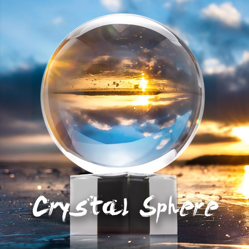Photography Crystal Ball Ornament FengShui Globe Divination Quartz Magic  Glass Ball Home Decor Sphere Lens ball 50/80mm