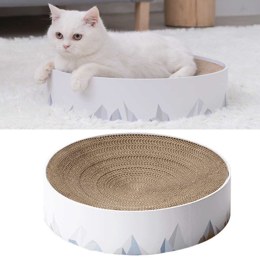 1Pc Multi functional Room saving Eco friendly Corrugated Paper Cat Claw Plate Cat Toys Cat Scratcher