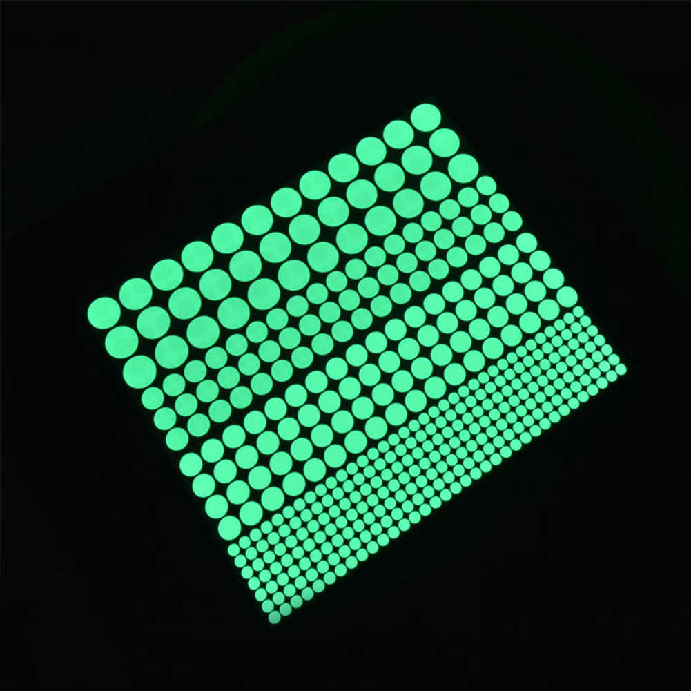 407PCS Creative Luminous Circle stickers  Fluorescent stickers PVC Wall Stickers Mural Decal Room decoration Kids child