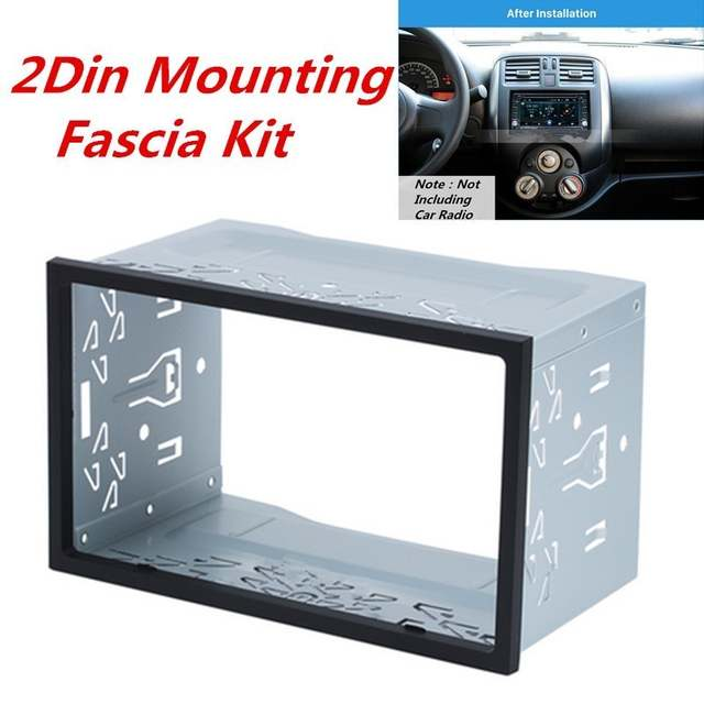 US $11 0 45% OFF|2Din Fittings Kit Radio Head Unit Installation Frame  General 2Din Fittings Kit Automotive Radio Player Box-in Fascias from