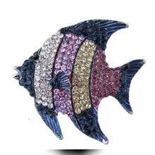 Тропические Броши Рыба для женщин большие милые животные брошь вечерние пальто Модные ювелирные аксессуары