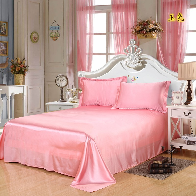 Warm Satin Silk Bed Seet King Queen Twin Size Solid Black Flat Bedsheet Bedspread High Quality Sheets No Pillow Covers10