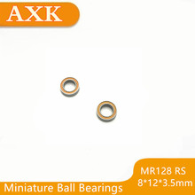 2019 New Mr128rs Bearing Abec-3 (10pcs) 8*12*3.5 Mm Miniature Mr128-2rs Ball Bearings Rs Mr128 2rs With Orange Sealed L-1280dd