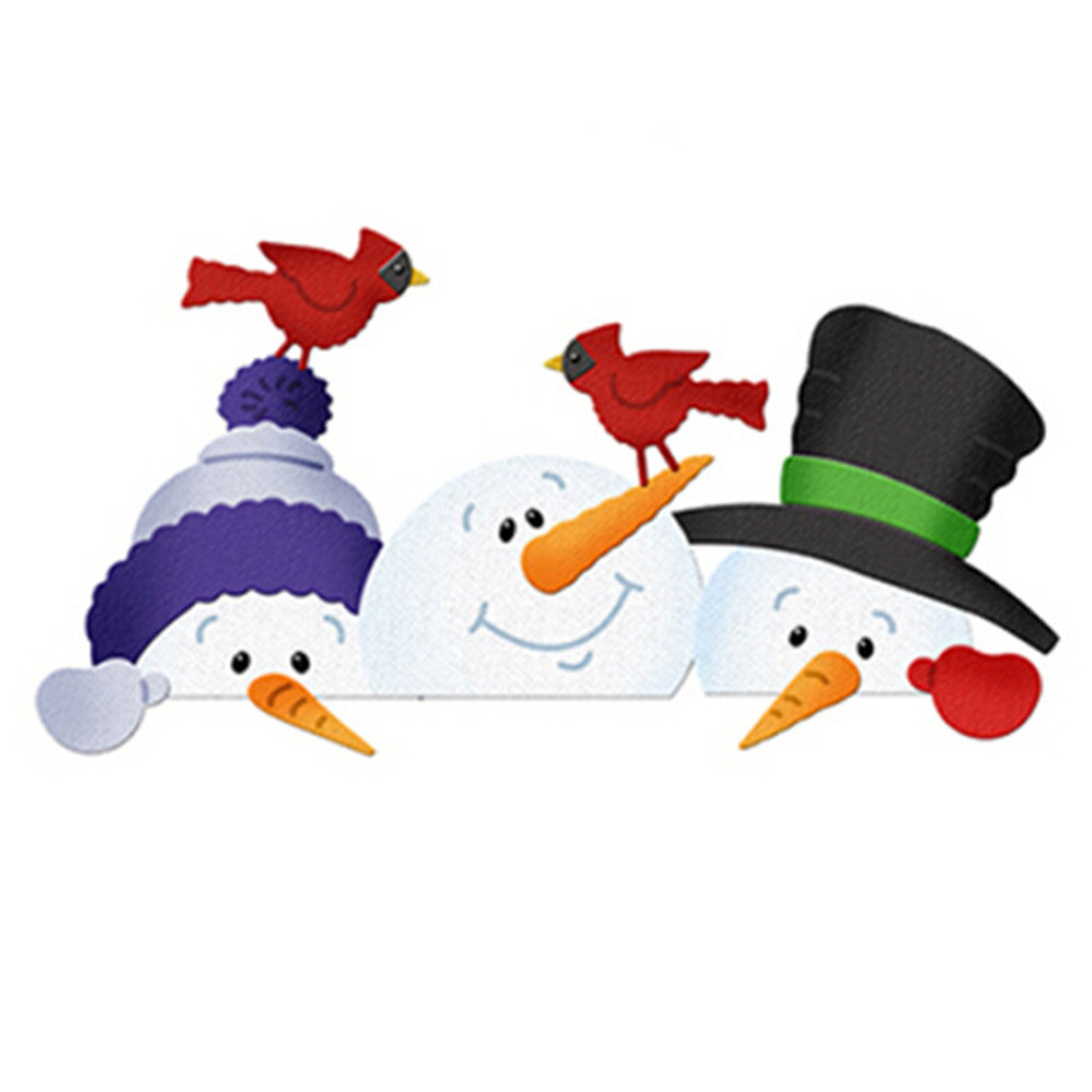 Craft Dies Card-Decoration Snowman Scrapbooking Diy Christmas Metal New-Arrivals Bros
