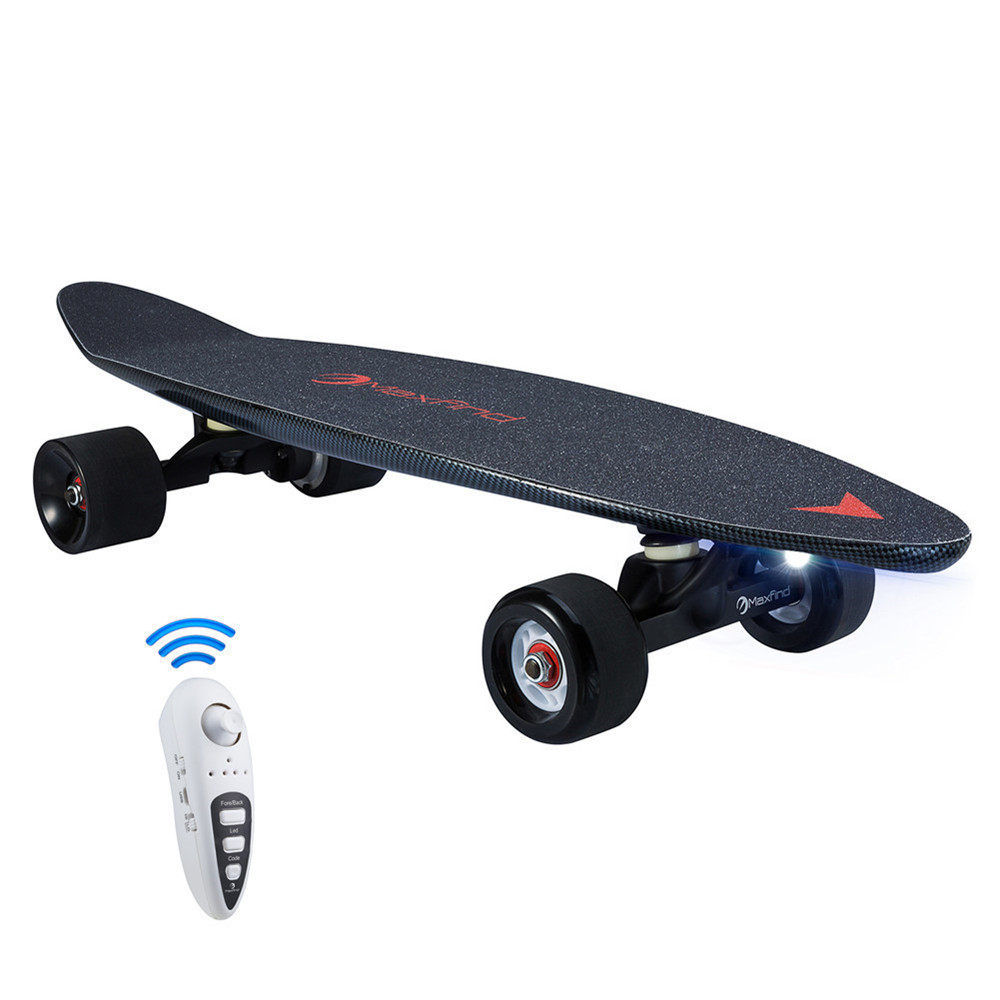 Maxfind 27 Inch Electric Skateboard With Wireless Remote Controller Long Board Skate Board Lightweight 4 Wheel