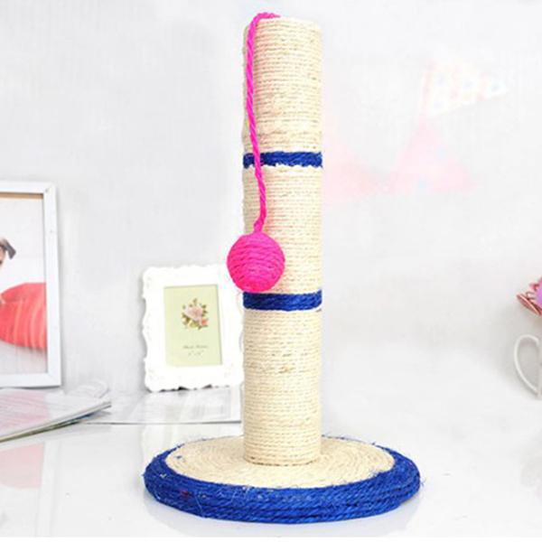 Image 4 - Cat Tree   Pole Scratcher with Ball (Toy) Pet Scratch Sisal Tree Furniture Protector Cat Play Toys   Random Color-in Cat Toys from Home & Garden