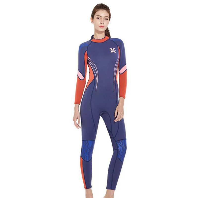 Plongée & voile néoprène noir 3 Mm combinaison de plongée sous-marine pour femmes à manches longues plongée en apnée surf maillots de bain Uv protection solaire combinaison Wetsu