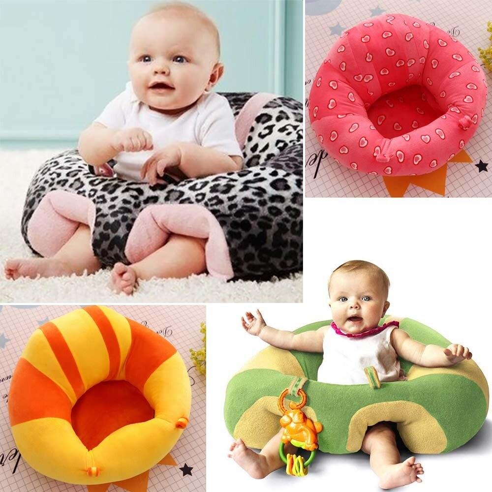 Plush Baby Chair Sitting Support Cradle Baby Sofa High Children's Sofa Cushion Car Seat Pillow Comfortable Lounger Chair Keep