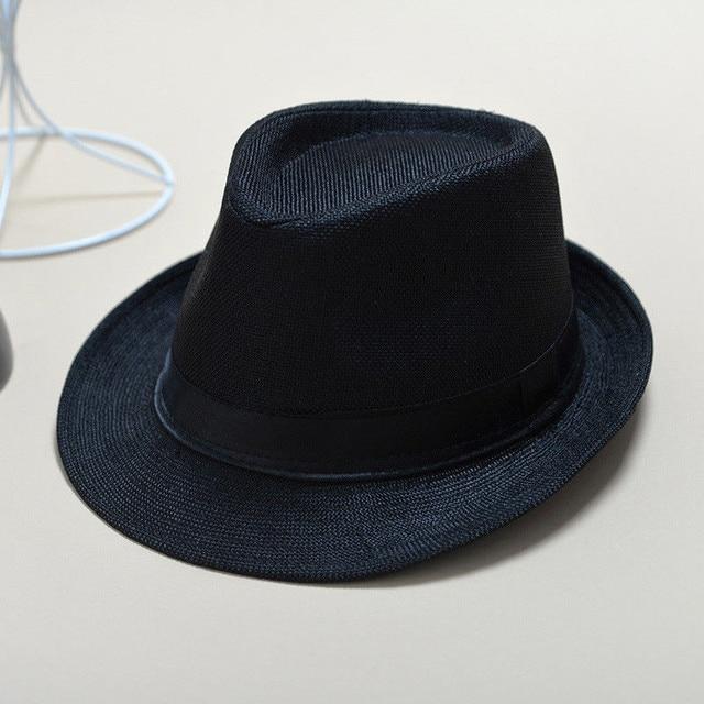 ad2ee3156e3a03 Fashion Unisex Straw Fedoras Sun Hat Panama Trilby Crushable Mens Ladies  Foldable Travel Hats Cap Fedora Cowboy Hats