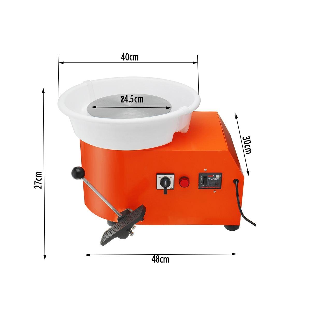 110/220 V 350 W poterie roue détachable Machine en céramique travail argile artisanat Art pied pédale US/AU/EU Plug Flexible détachable lisse - 3