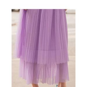Image 4 - INMAN Spring New Arrival High Waist Slim Retro Literary Double Layer Gauze Women A line Skirt