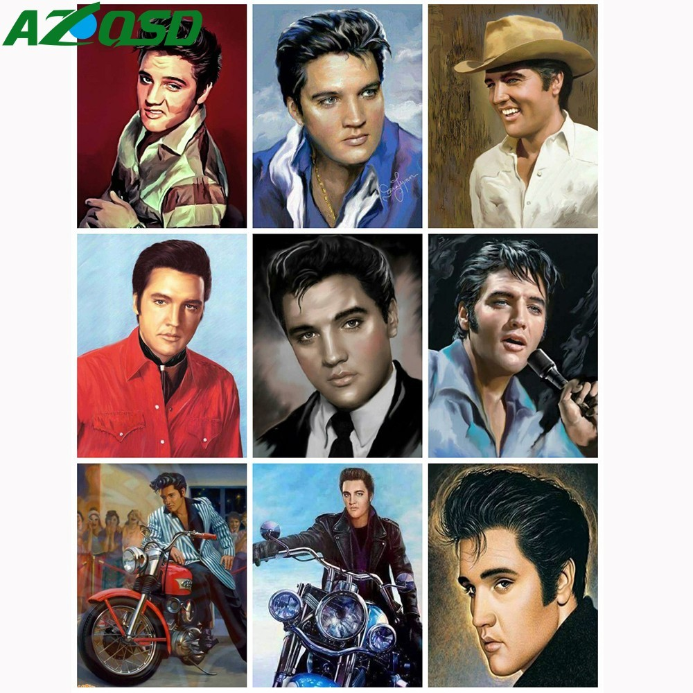 AZQSD Elvis Presley DIY Acrylic Oil Painting Painting Drawing Canvas Pictures Abstract Oil Painting By Number Home Decor SZGD037