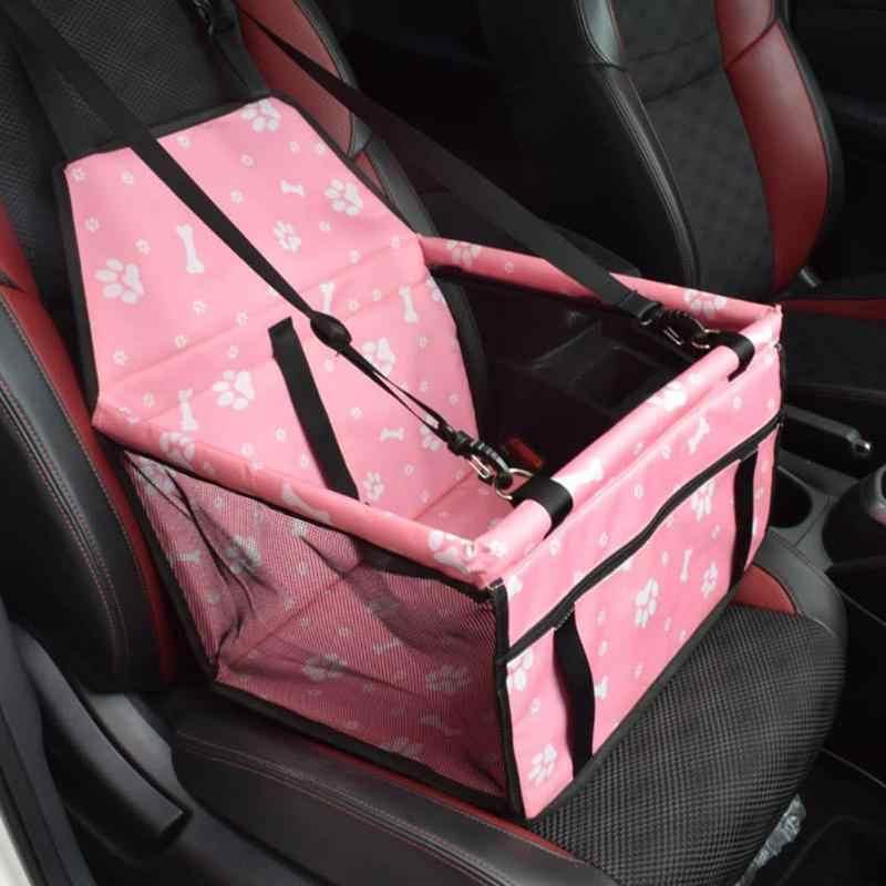 通気性メッシュペット猫犬車の安全シート子犬犬バスケット安全キャリア旅行バッグ防水ペット用品
