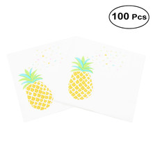 Disposable Lunch Napkin Printed Napkin Paper For Birthday Dinner Party Favors Supplies (Pineapple)(China)