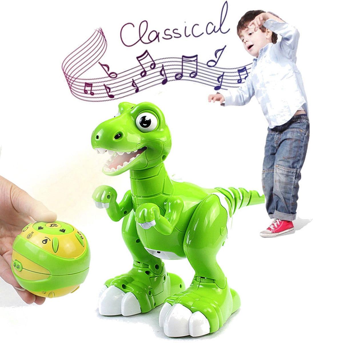 Jouets RC électriques de dinosaure de jet de télécommande marchant tyrannosaure Dino Rechargeable interactif pour des enfants avec la lumière et le son