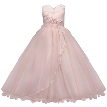 AmzBarley Kids Girls' Dresses Formal Prom Ball Gown Girl Lace Sleeveless Tulle Flower Princess Party wedding  Maxi Dress